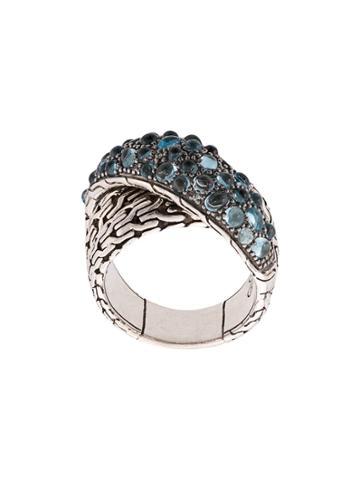 John Hardy Classic Chain Overlap Ring - Silver