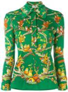 Hermès Vintage Bird Print Blouse