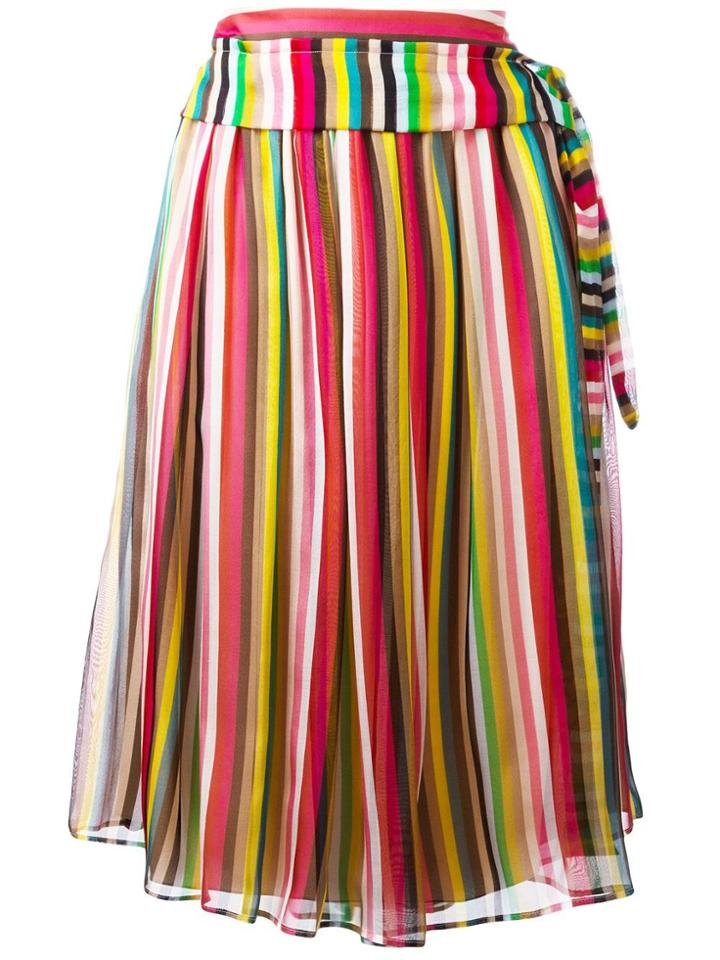 No21 Striped Midi Skirt - Multicolour