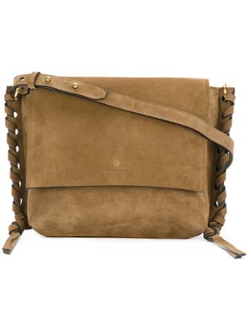 Isabel Marant - Asli Shoulder Bag - Women - Cotton/calf Suede - One Size, Brown, Cotton/calf Suede