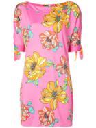 Trina Turk Floral Print Mini Dress - Pink & Purple