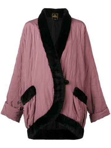 Fendi Vintage 1980 Oversized Coat - Pink