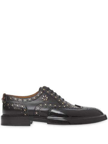 Burberry Studded Oxford Shoes - Black