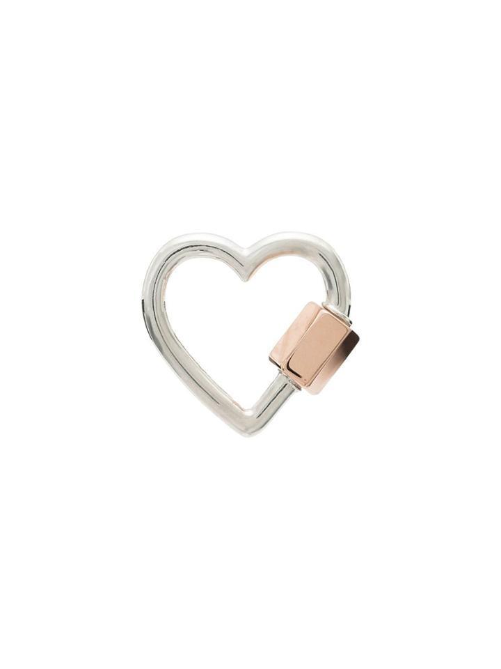 Marla Aaron Heart Carabiner Charm - Metallic
