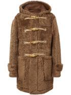 Burberry Shearling Duffle Coat - Brown