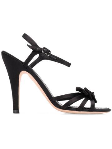 Chanel Vintage Bow Details Sandals - Black