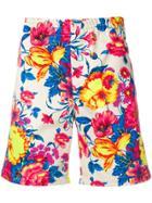 Msgm Floral Print Shorts - Neutrals