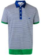 Salvatore Ferragamo - Striped Polo Shirt - Men - Cotton - Xl, Blue, Cotton