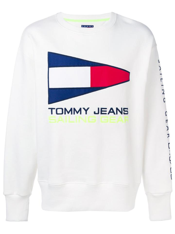 Tommy Jeans Embroidered Sweatshirt - White