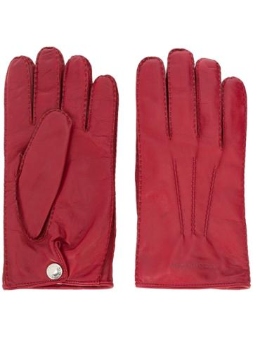 Alexander Mcqueen Logo Embossed Gloves - Red