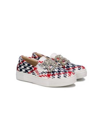 Ermanno Scervino Junior Check Detail Sneakers - Multicolour