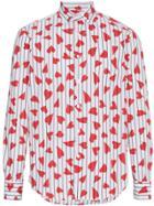 Jw Anderson Heart Stripe Print Shirt - White