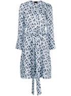 Marni Long-sleeved Printed Dress - Blue