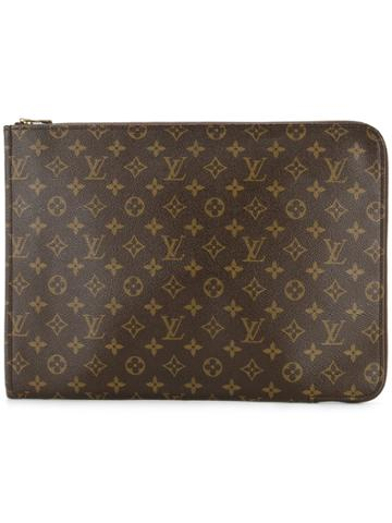 Louis Vuitton Vintage Monogram Documents Handbag - Brown
