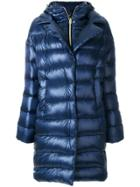 Herno Long Hooded Puffer Coat - Blue
