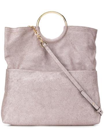L'autre Chose Metallic Bracelet Tote - Pink & Purple