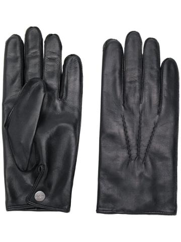 N.peal 007 Leather & Cashmere Lined Gloves - Black