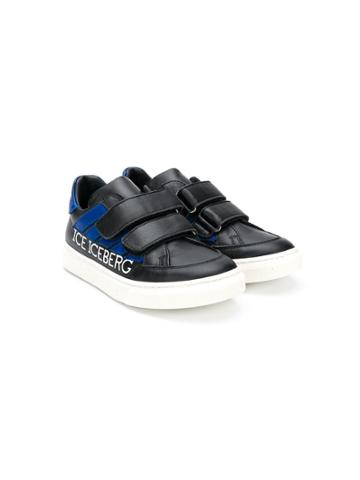 Iceberg Kids Teen Touch Strap Sneakers - Black