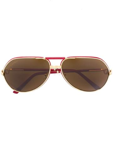 Cartier 'revival Vendome' Sunglasses - Red
