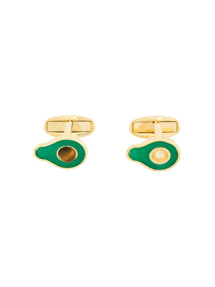 Paul Smith Avocado Polished Cufflinks - Green