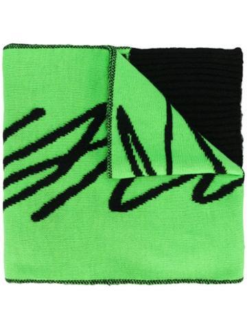 Just Cavalli Oversized Logo Scarf - Green