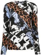 Proenza Schouler Contrast Printed Top - Black