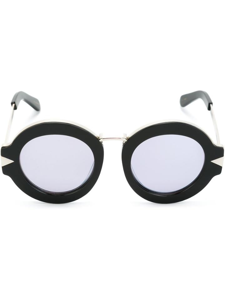 Karen Walker Round Frame Sunglasses - Black