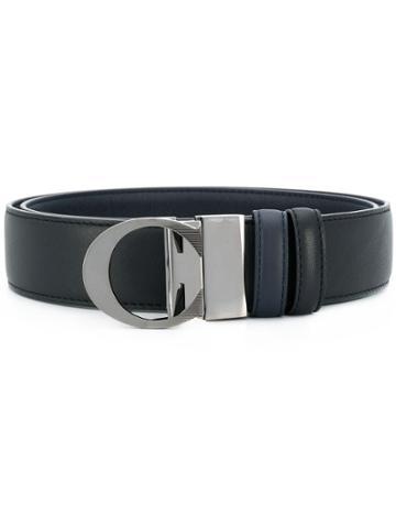 Canali Reversible C Buckle Belt - Black