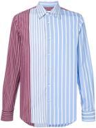 Marni Striped Panel Shirt - Blue
