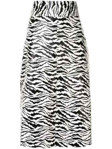 Bambah Zebra Midi Skirt - White