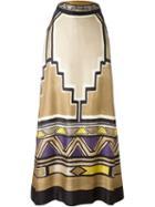 Alberta Ferretti Geometric Pattern Skirt