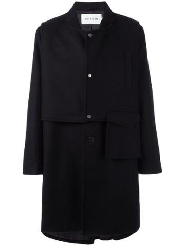 Agi & Sam Oversized Mid Coat - Blue