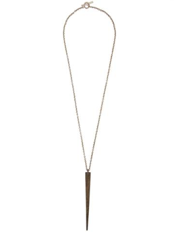 Parts Of Four Big Spike Necklace, Adult Unisex, Metallic