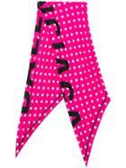 Balenciaga Polka Dot Scarf - Pink