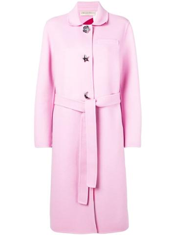 Emilio Pucci Pink Shaped Button Wool Coat