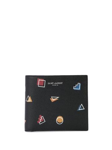 Saint Laurent Retro Shapes Wallet - Blue