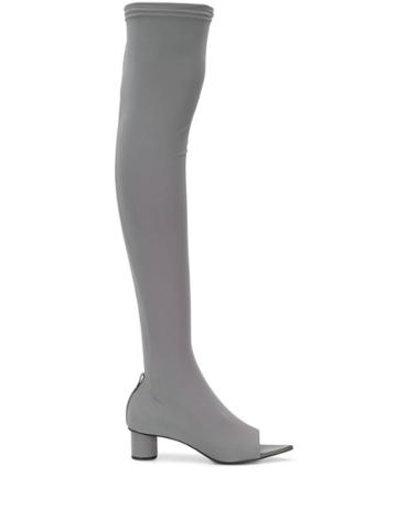 Jil Sander Knee Length Sock Boots - Grey
