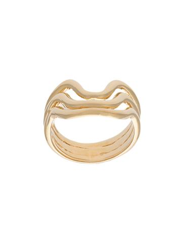 Aurelie Bidermann Wavy Ring, Women's, Size: 52, Metallic