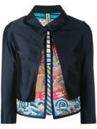 Herno Layered Cropped Jacket - Blue
