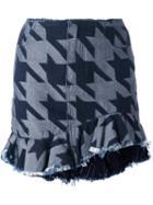 Marques'almeida Houndstooth Pattern Skirt