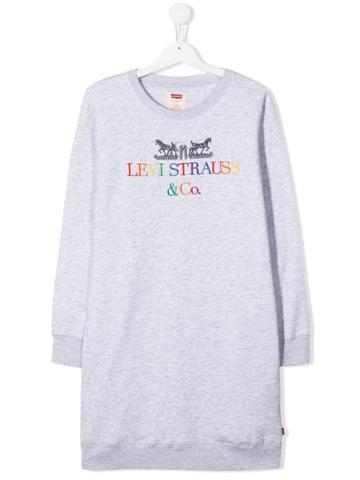 Levi's Kids Teen Embroidered Logo Sweater Dress - Grey