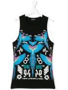 Marcelo Burlon County Of Milan Kids Macaw Print Vest Top - Black