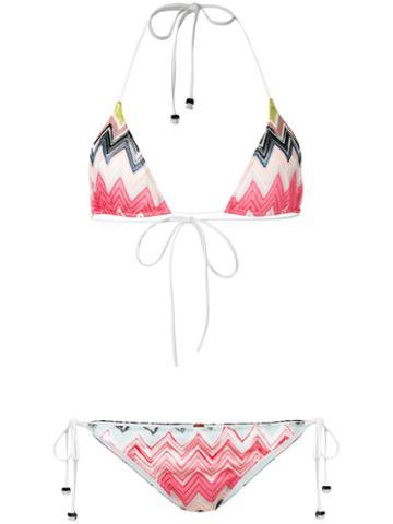 Missoni Zig Zag Bikini, Women's, Size: 44, Viscose/polyamide/spandex/elastane