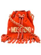 Moschino Fringed Bucket Shoulder Bag