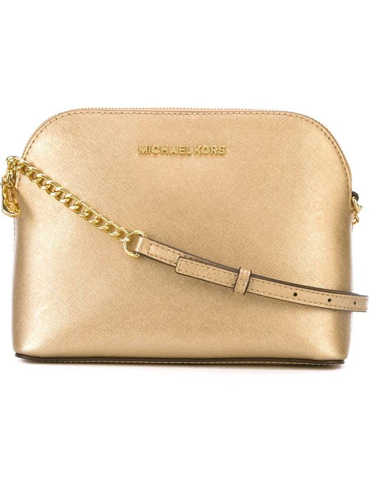 Michael Michael Kors Large 'cindy' Crossbody Bag, Women's, Grey, Leather