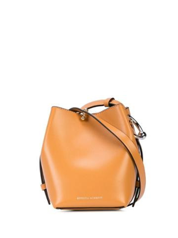 Rebecca Minkoff Logo Printed Bucket Bag - Brown