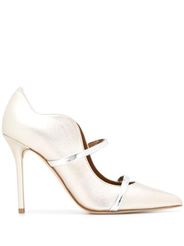 Malone Souliers Multi Strap Pointed Pumps - Gold