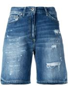 Dondup Distressed Denim Shorts - Blue