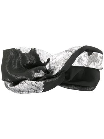 Ingie Paris Metallic Turban - Black