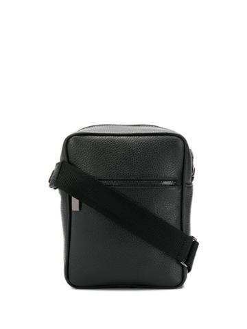 Canali Zipped Messenger Bag - Black